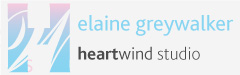 logo of HW with text of elaine greywalker and heartwind studio