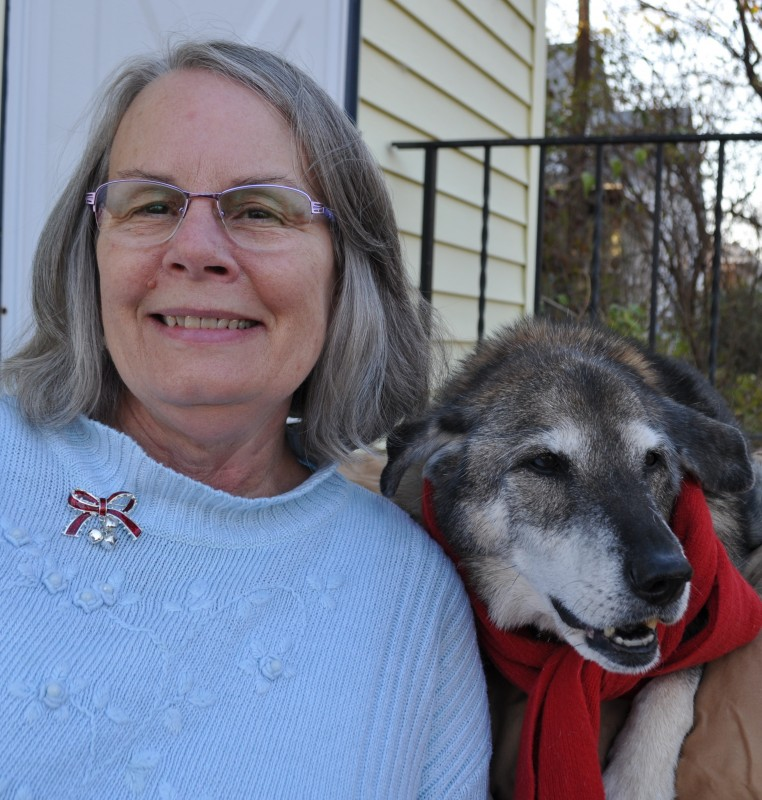 Me with my dog, Pip.