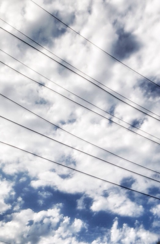 Clouds and electrical lines