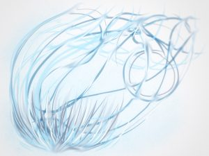 Forward motion - abstract drawing by Elaine Greywalker